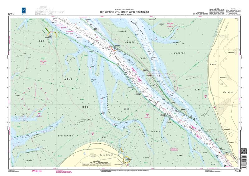 BSH 1530 Die Weser von Hohe Weg bis Imsum