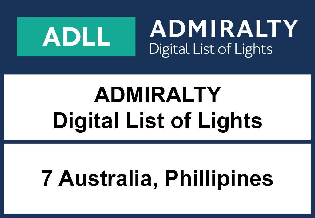 ADMIRALTY DigitalLightsList - Area 7 Australia and Borneo