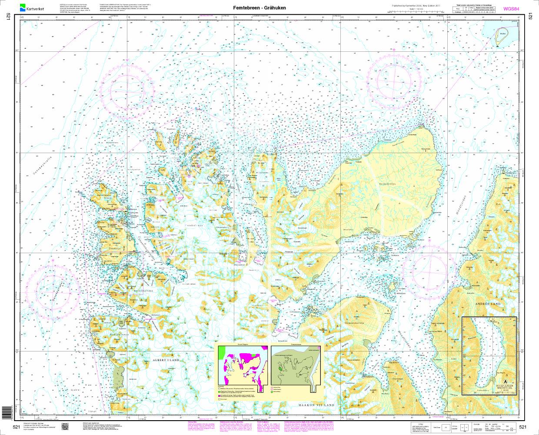 Norwegen N 521 Spitzbergen Femtebreen - Gråhuken