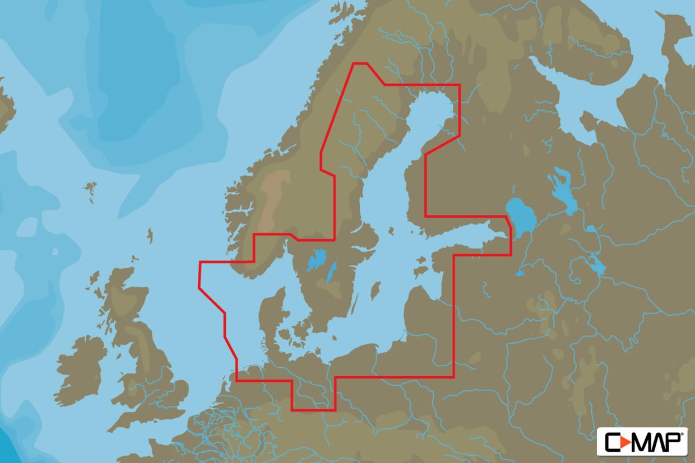 C-MAP MAX Wide EN-M299 Baltic Sea & Denmark (W85)