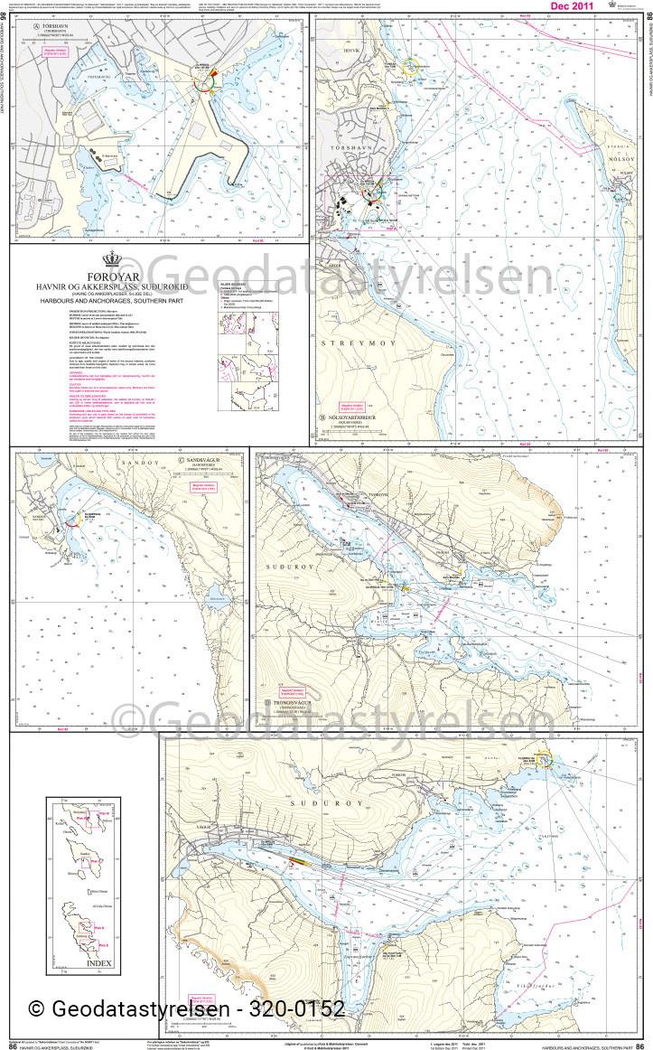 DK 86 Färöer Häfen und Ankerplätze - Süd