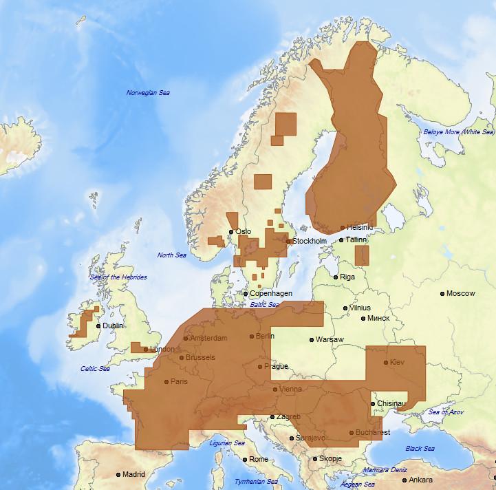 C-MAP MAX MegaWide EN-M018 European Inland Waters