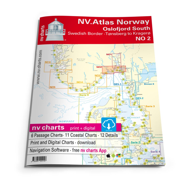 NV Atlas Norway NO2 Oslofjord Sør - Svenska Grensen til Kragerø