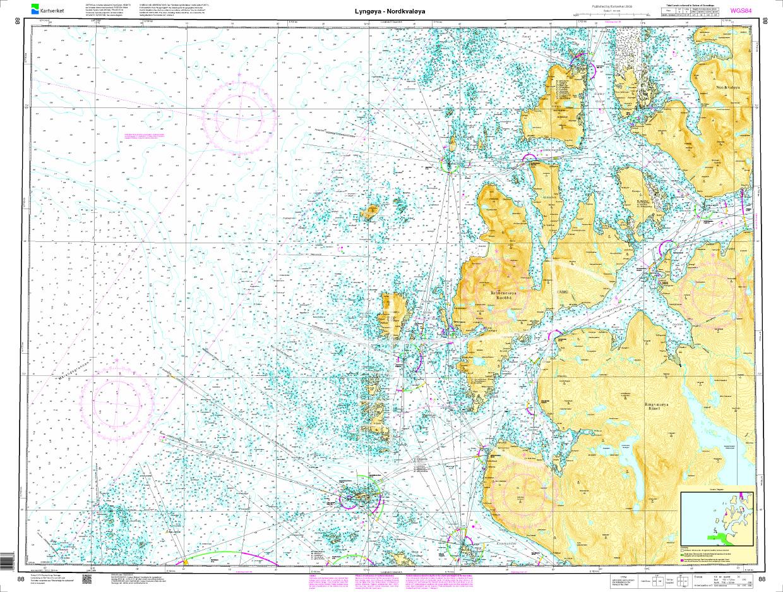 Norwegen N 88 Atlantik Lyngøya - Nordkvaløya