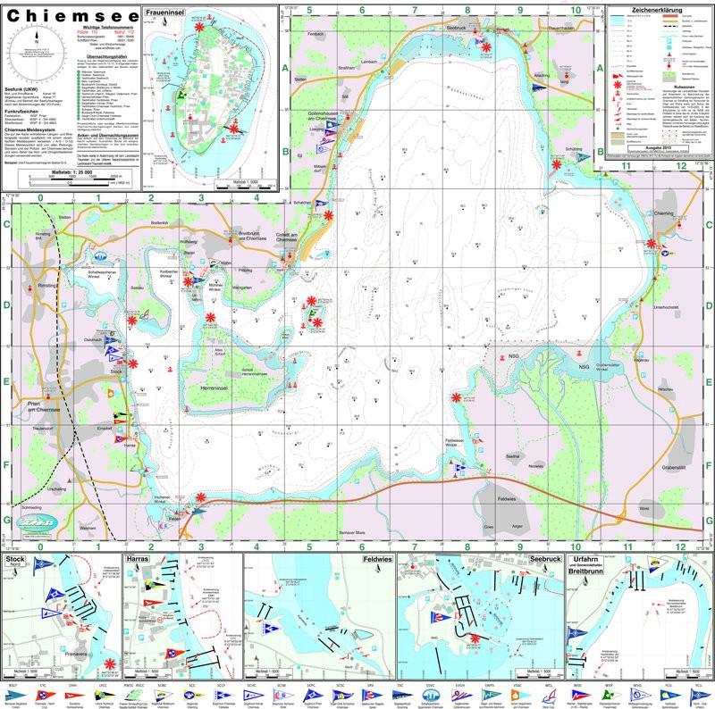 Nautische Seekarte Chiemsee