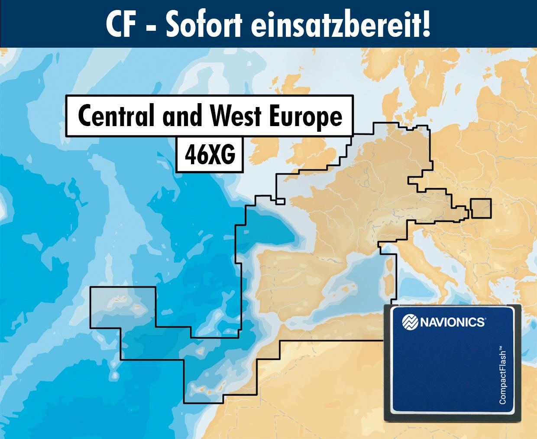 Navionics+ CF 46XG West- und Mitteleuroa