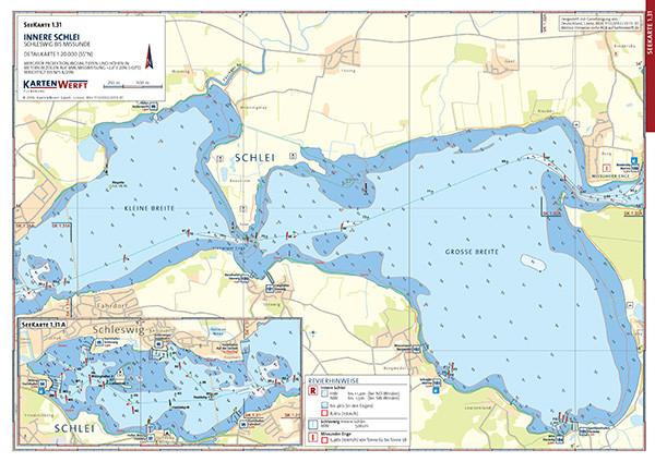 Seekarte - Innere Schlei / Mittlere Schlei Südwest