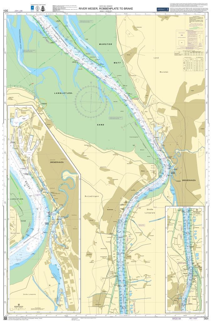 DE4 Weser, Robbenplate bis Brake und Bremerhaven