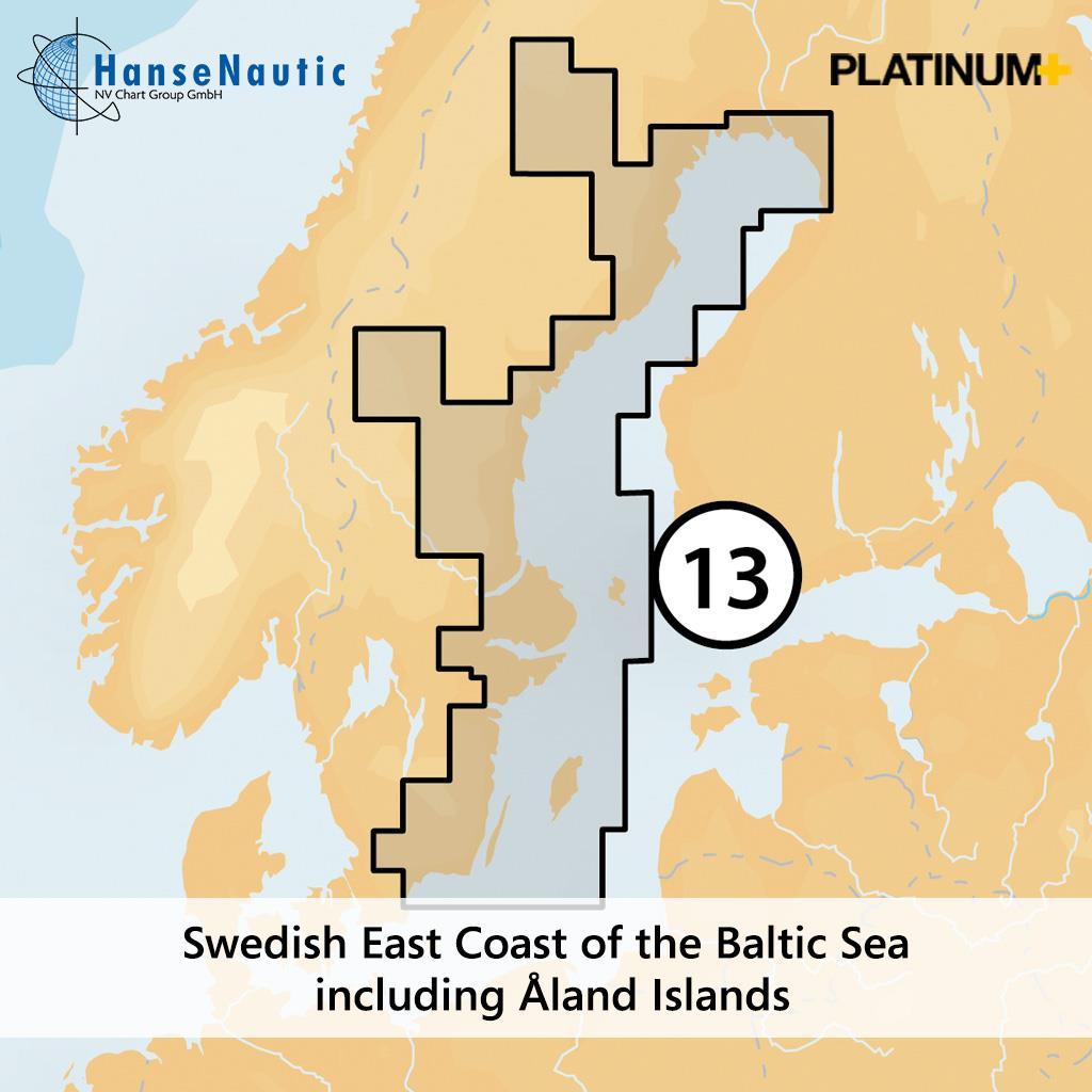 Navionics Platinum+ Schweden Ostküste (Karlskrona-Stockholm-Haparanda) 13P+