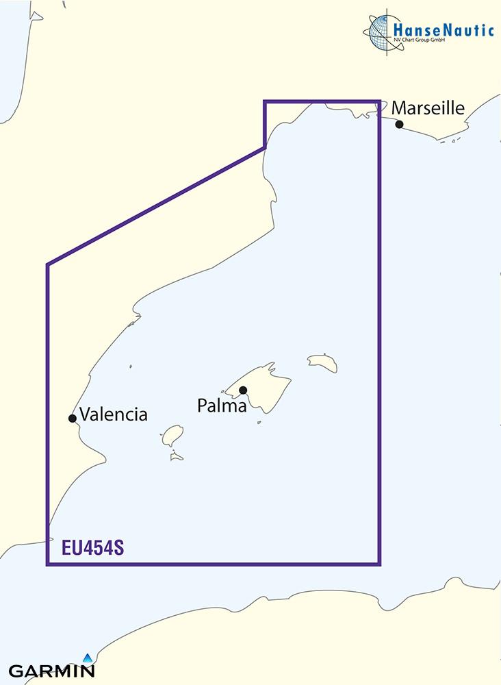 BlueChart Mittelmeer - Balearen, NE-Spanien (Barcelona and Valencia) - g3 Vision VEU454S