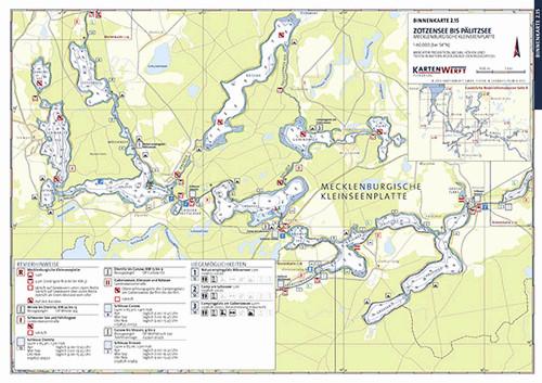 Zotzensee bis Pälitzsee | Rheinsberger Gewässer - Binnenkarte
