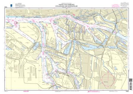 BSH 1662 Hafen von Hamburg, Köhlbrand und Norderelbe
