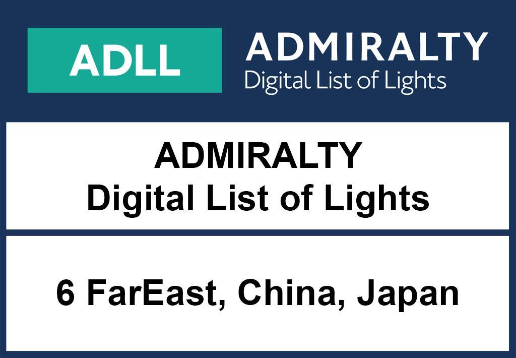 ADMIRALTY DigitalLightsList - Area 6 Singapore to Japan and Philippines