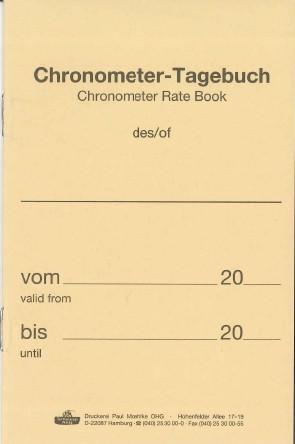 Chronometertagebuch/Chronometer Diaries