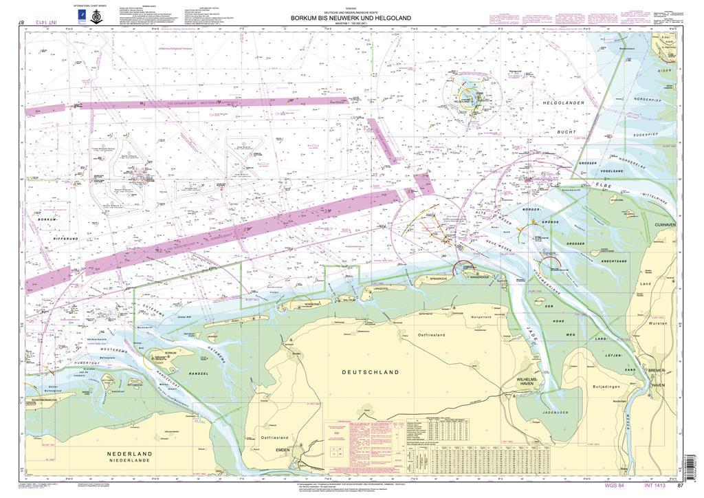 DE87 Deutsche Bucht Ostfriesland, Borkum bis Neuwerk
