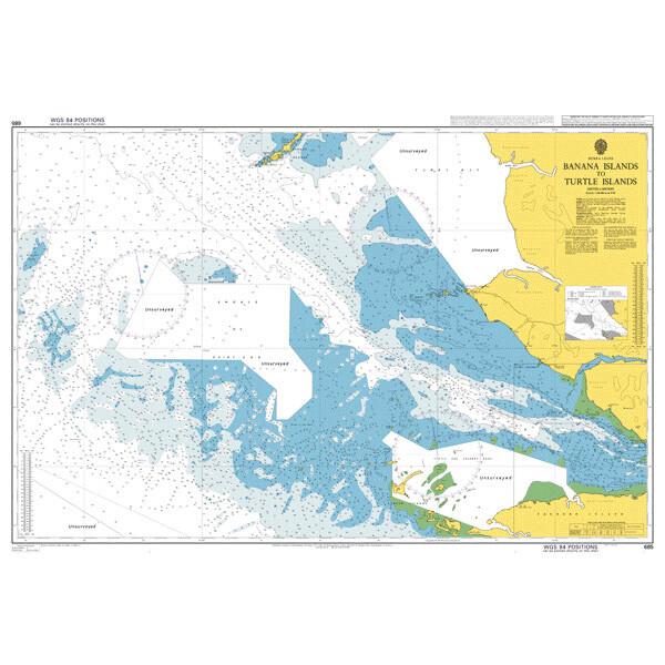 Banana Islands to Turtle Islands. UKHO685