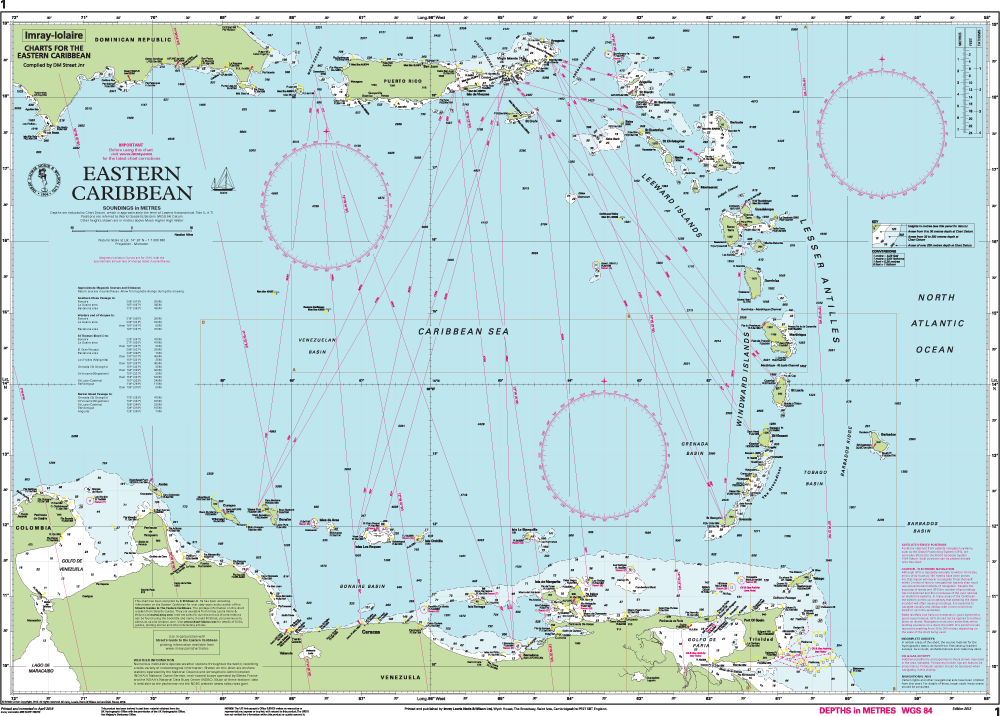 Imray Chart 1 - Easter Caribbean preview