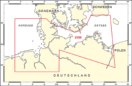 Abdeckungsgebiet des BSH Funkdienstes für die Klein- und Sportschifffahrt