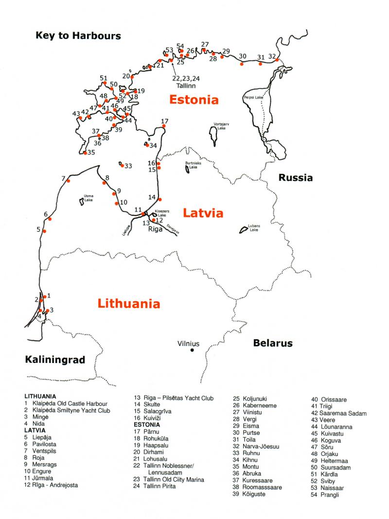 Hafenliste / Harbour Liste Baltic States