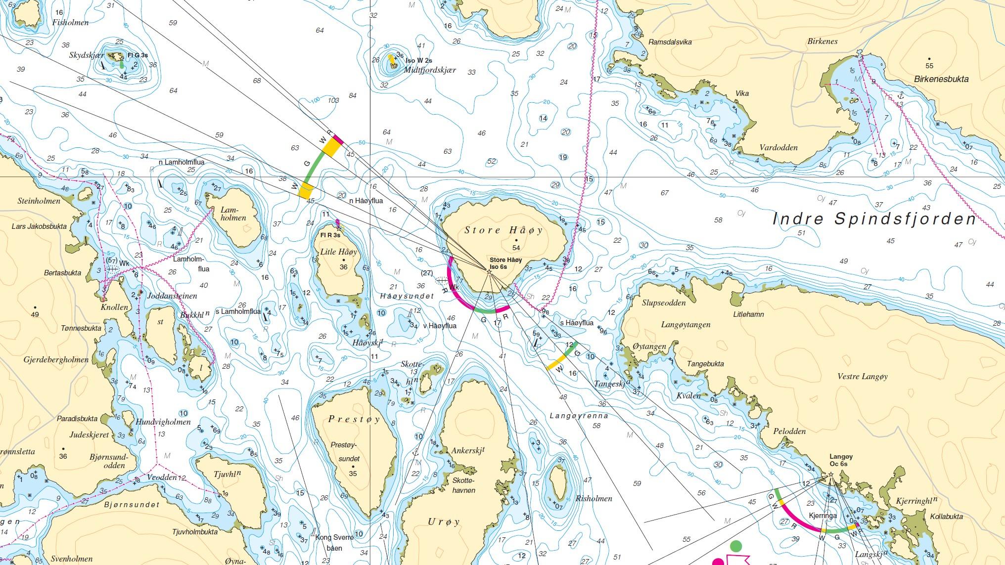 Detail der norwegischen Seekarte N477 Farsund