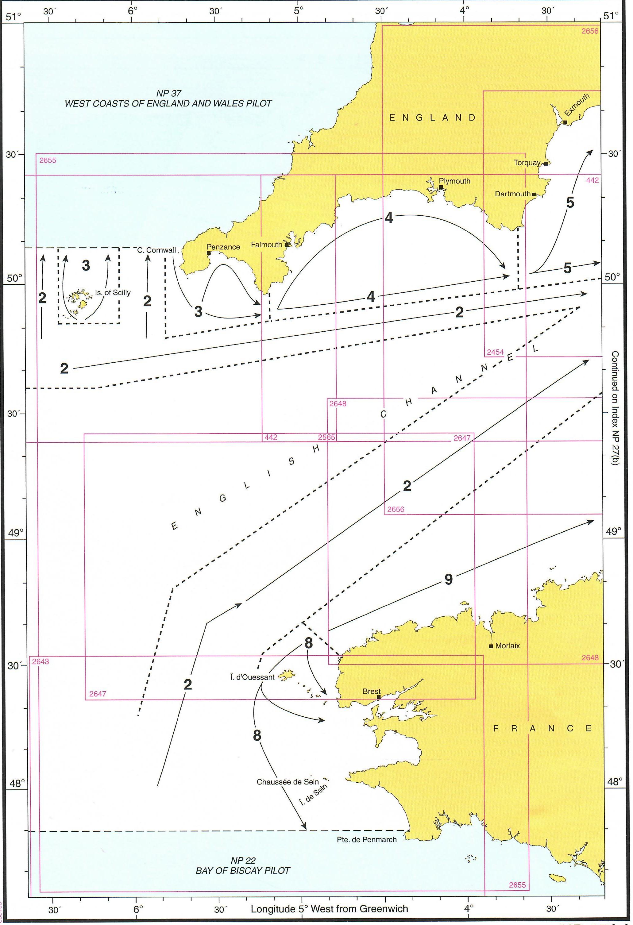 Abdeckung der NP27 westlicher Teil Englischer Kanal