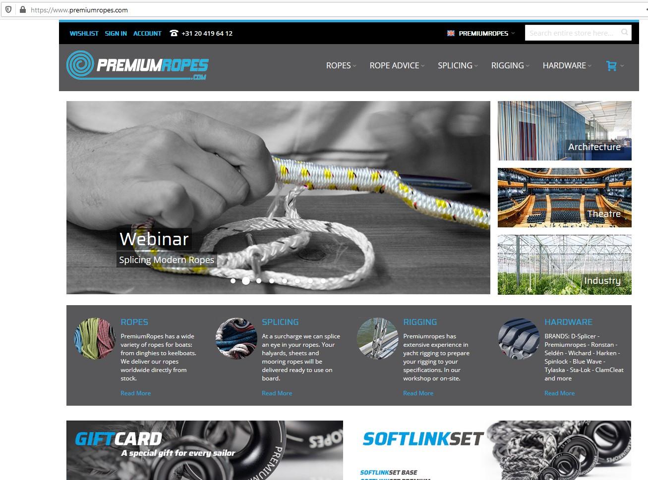 Online Presentation of Premium Ropes