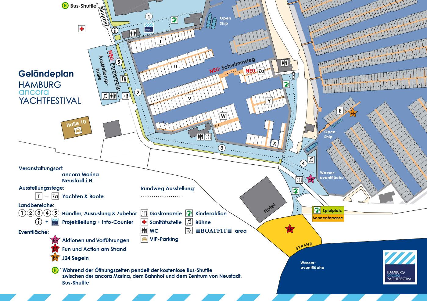 Geländeplan für Yachtfestival