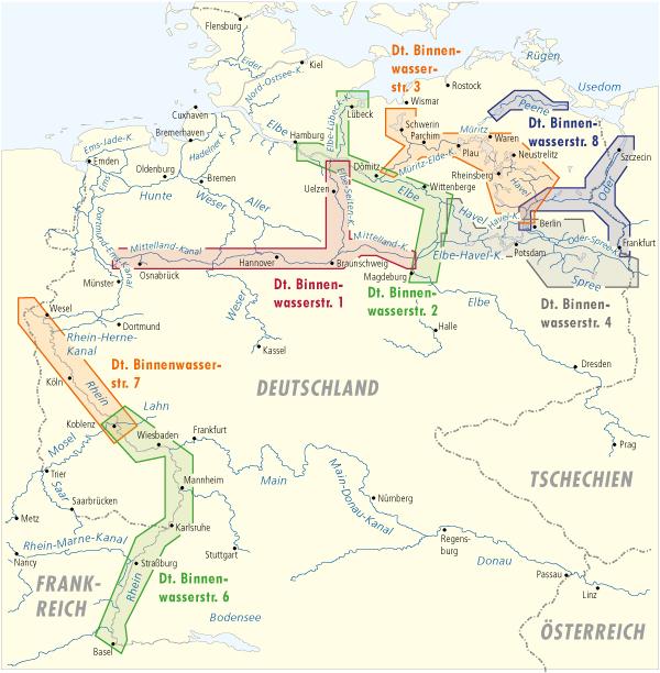 karte binnenwasserstraßen deutschland Deutsche Binnenwasserstraßen   Deutschland   Binnenführer