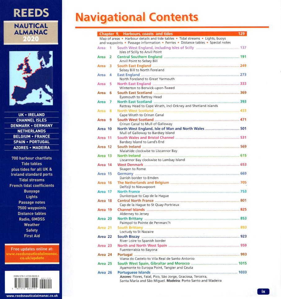 Inhalt Reeds Nautical Almanac 2020
