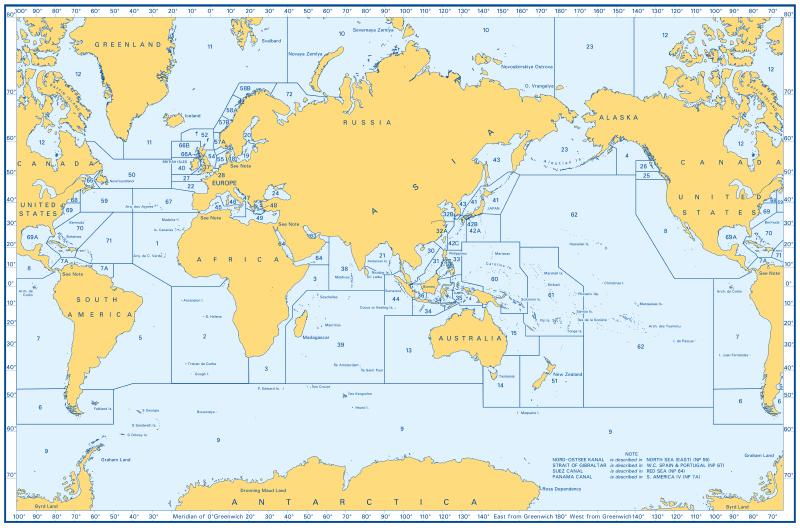 Admiralty Sailing Directions Übersicht